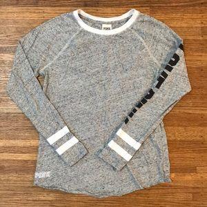 PINK Victoria's Secret Long Sleeve Tee Shirt Gray